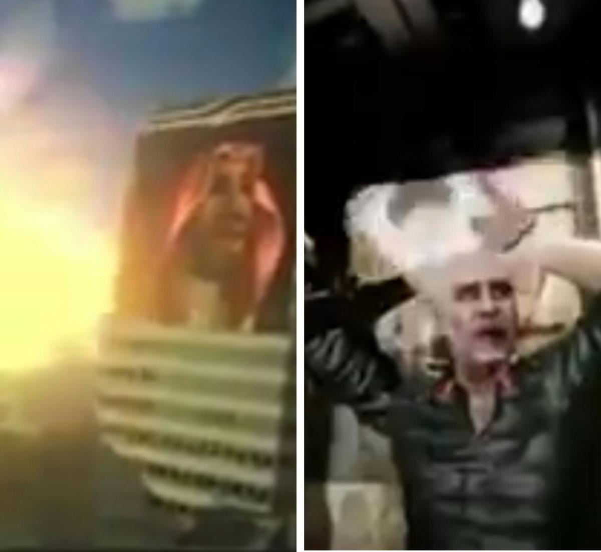 بالفيديو : السعودية تقتل قاسم سليماني بفيلم ...وايران ترد بتدمير الرياض على رأس بن سلمان بفيلم آخر ..